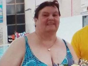Carole was presented with a bunch of flowers at the pool after completing the 22-mile 'Channel crossing' – afterwards she decided to 'swim back'.