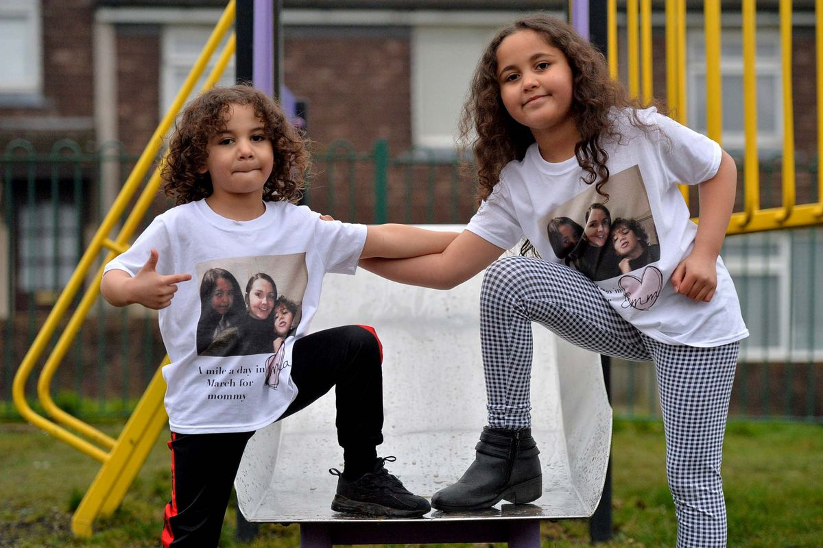 Five year old AJ and sister, eight year old  Aaliyah