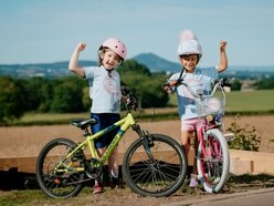 Six-year-olds in cycling challenge for Telford foodbanks