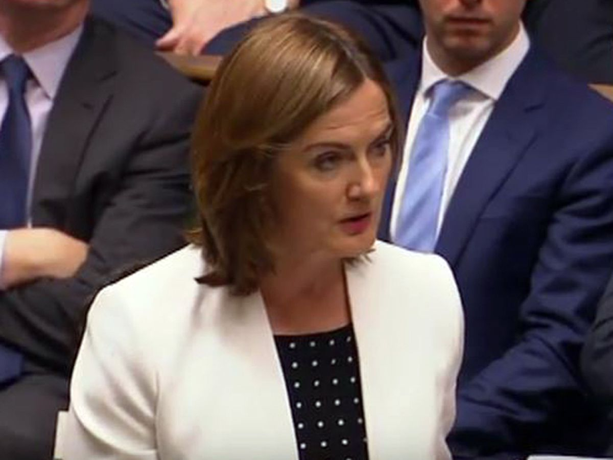 Lucy Allan speaking during Prime Minister's Question Time today