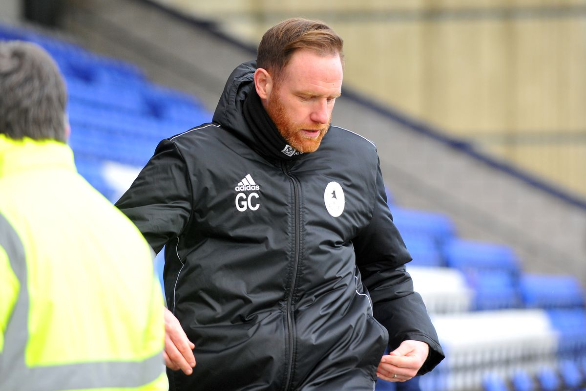 TELFORD COPYRIGHT MIKE SHERIDAN Telford boss Gavin Cowan during the Vanarama Conference North fixture between AFC Telford United and Chester FC at Deva Stadium on Saturday, January 2, 2020...Picture credit: Mike Sheridan/Ultrapress..MS2021-053.