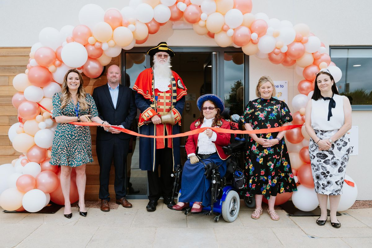 Town Crier Martin Wood and Sue Wood join the nursery team to open Kids Planet in Shrewsbury, which has 120 places available