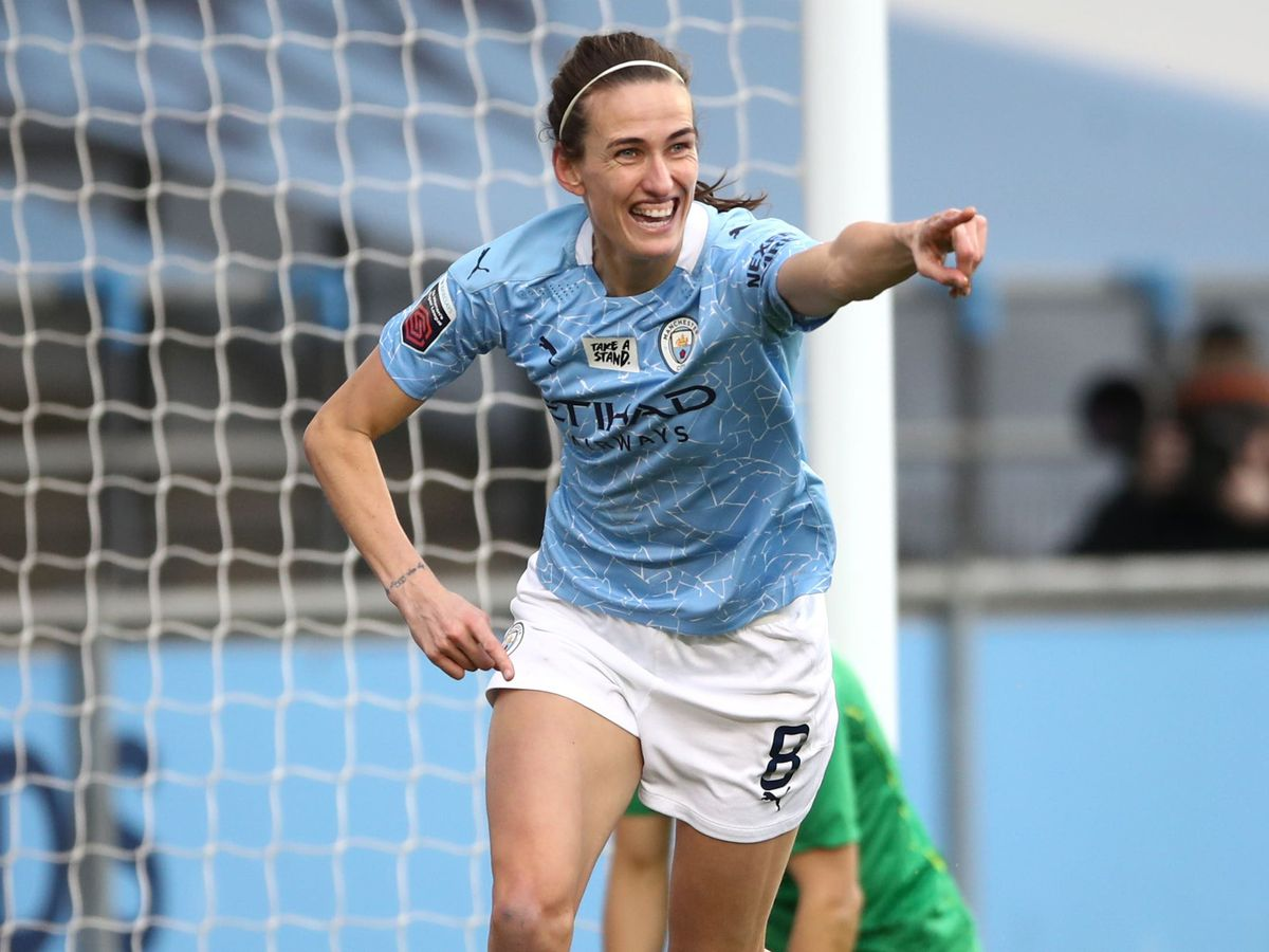 Jill Scott has made only two Women's Super League starts for Manchester City this season (Tim Goode/PA).