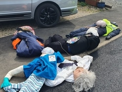 Vandals attack 'thank you NHS' scarecrow competition in Shropshire village