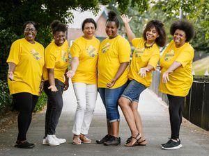 Organisers Natalie Headley, Shaunte Mthethwa, Sherrel Fikeis, Phoebe Mthethwa, Heather Reid and Lavern Mthethwa