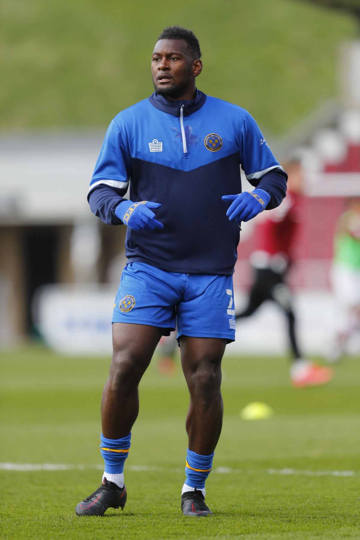 Aaron Pierre's calf muscle is being assessed by the Shrewsbury physios (AMA)