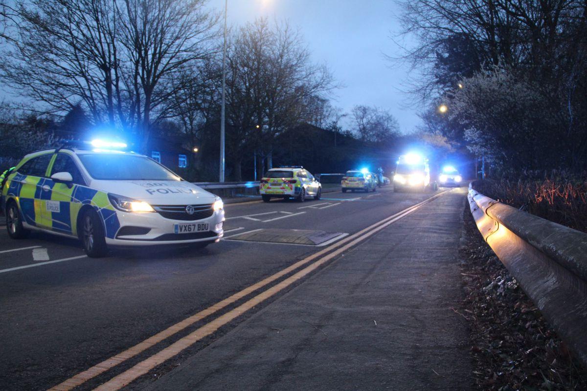 Emergency service at the scene. Photo: JA Photography.