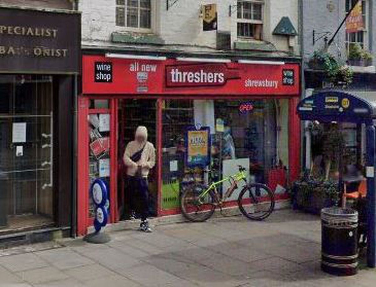 Threshers on Shoplatch in Shrewsbury has been closed for three weeks. Picture: Google Streetview