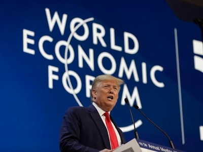 Donald Trump hails 'economic boom' as he addresses Davos gathering
