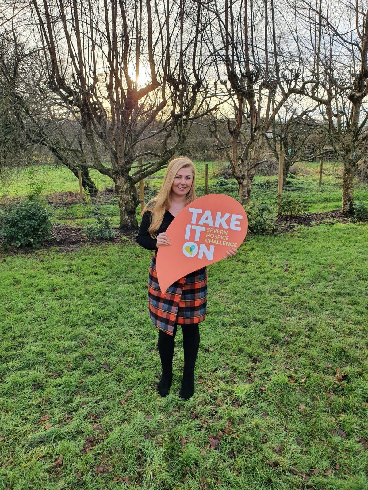 Jess Druce, area fundraiser for Severn Hospice