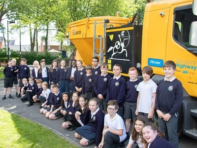 Potty for pothole-fillers - Shropshire pupils meet the vehicles they named