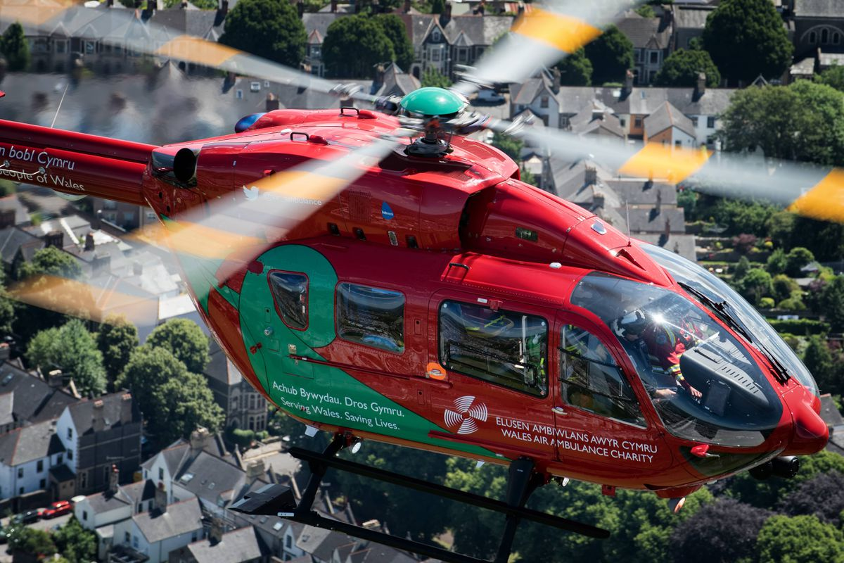 One of the charity's air ambulances