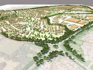 An artist's impression of what Tasley Garden Village could look like. Shropshire Council has backed proposals for this development.