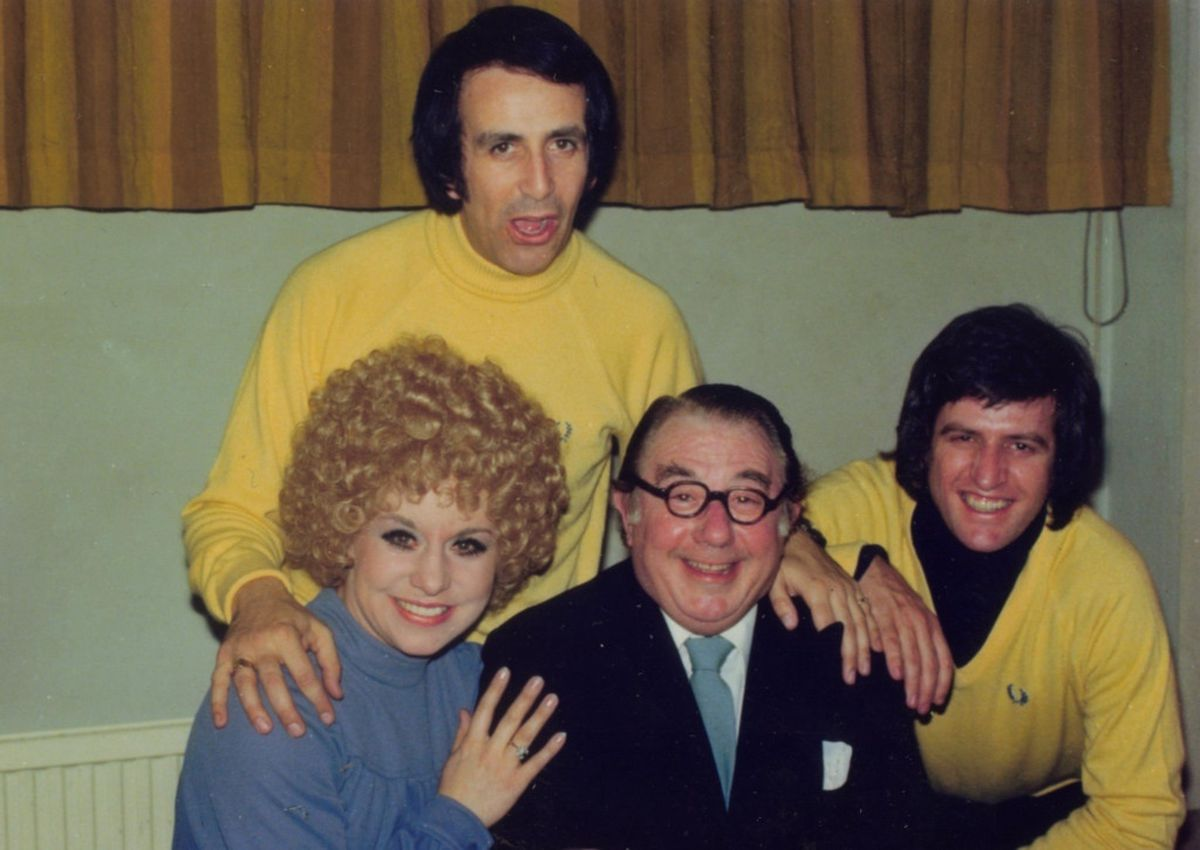 Don Maclean (back), Peter Glaze (centre) and Ed Stewart were the stars of Crackerjack in the mid-1970s