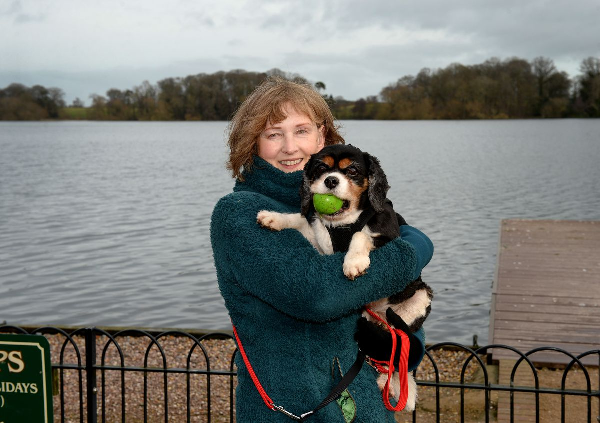 Trixi Field with her dog Harry
