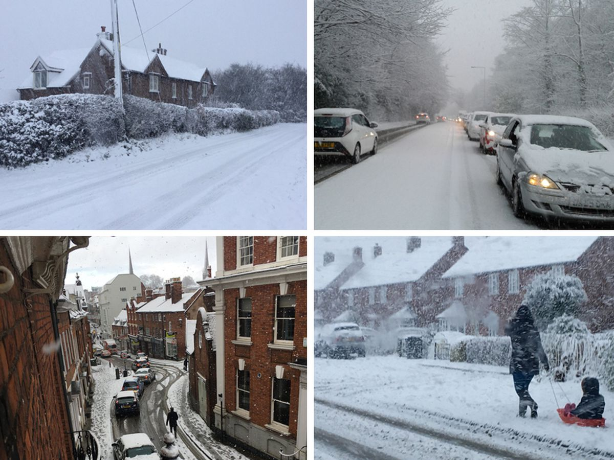 Snow has hit most parts of Shropshire today