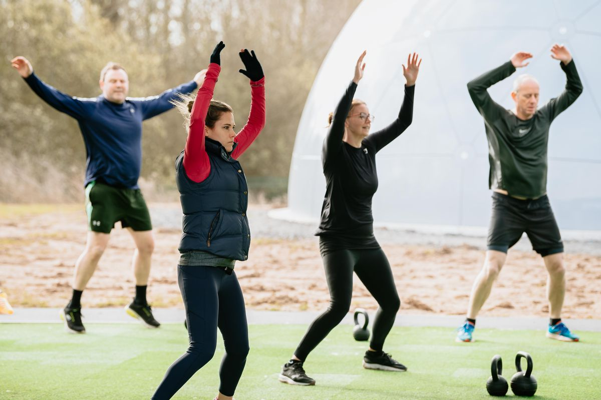 SHREWS COPYRIGHT SHROPSHIRE STAR JAMIE RICKETTS 29/03/2021 - Outdoor exercise has returned to The Shrewsbury Club including Tennis and Bootcamps at their new outdoor facility..