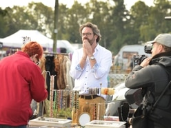 In pictures: Bargain Hunt films series of episodes at Oswestry antiques fair