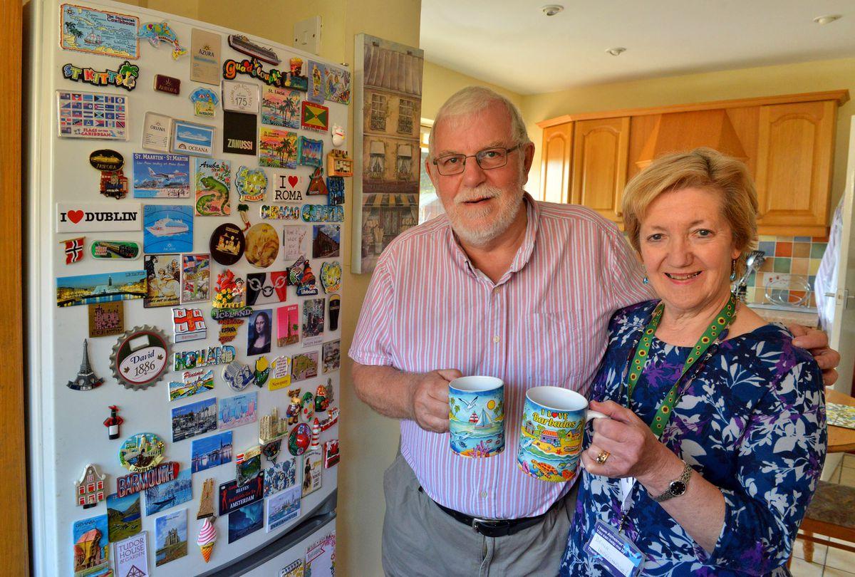 Cheryl Hayes, 67, with husband David