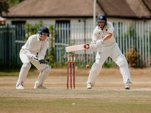 Bridgnorth Cricket Club vs Shifnal Cricket Club. Bridgnorth Fielding and Shifnal Batting.