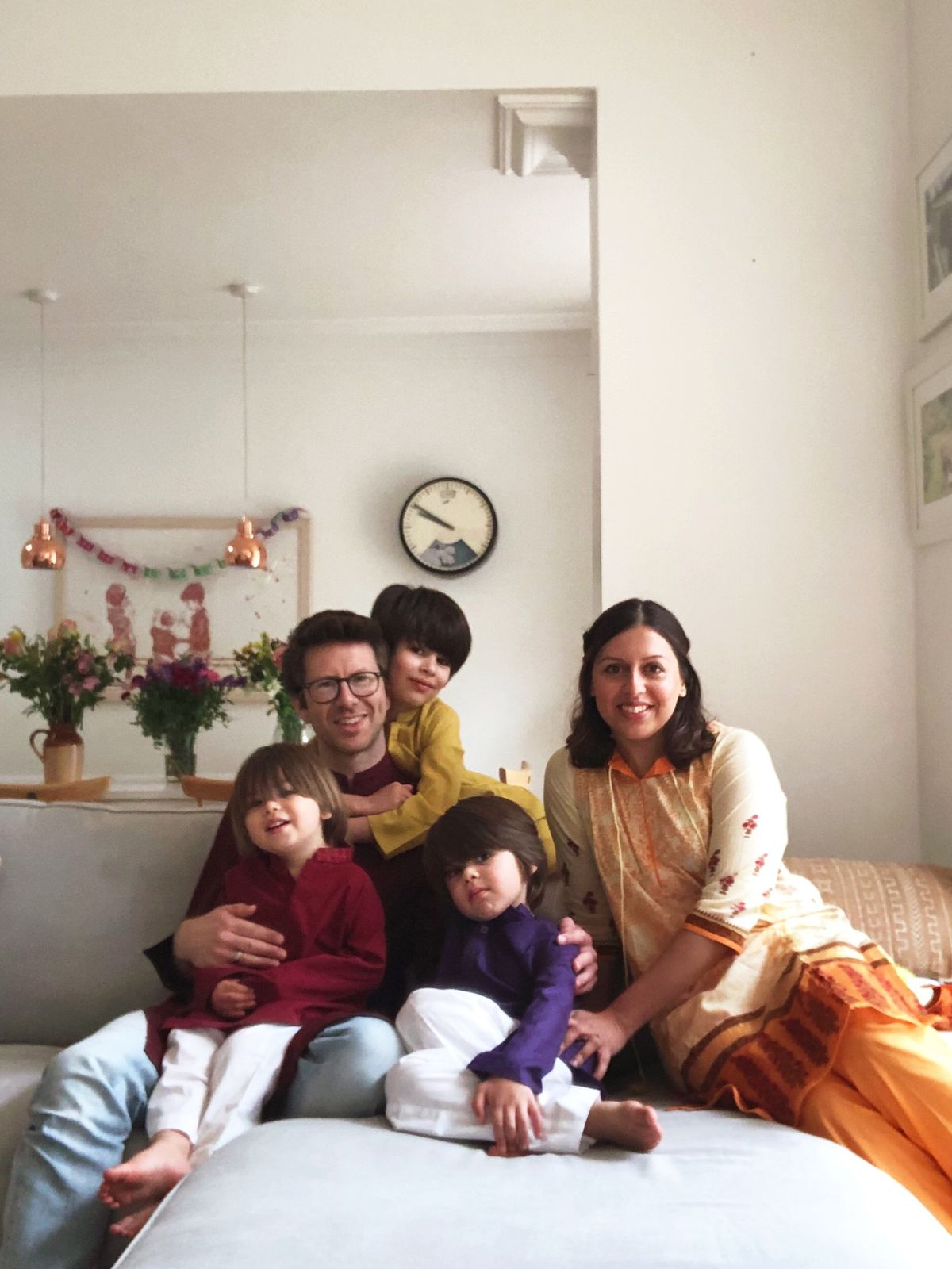 Huma with her family