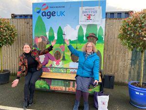 Sarah McManus from the British Ironwork Centre and Heather Osborne of Age UK Shropshire Telford & Wrekin