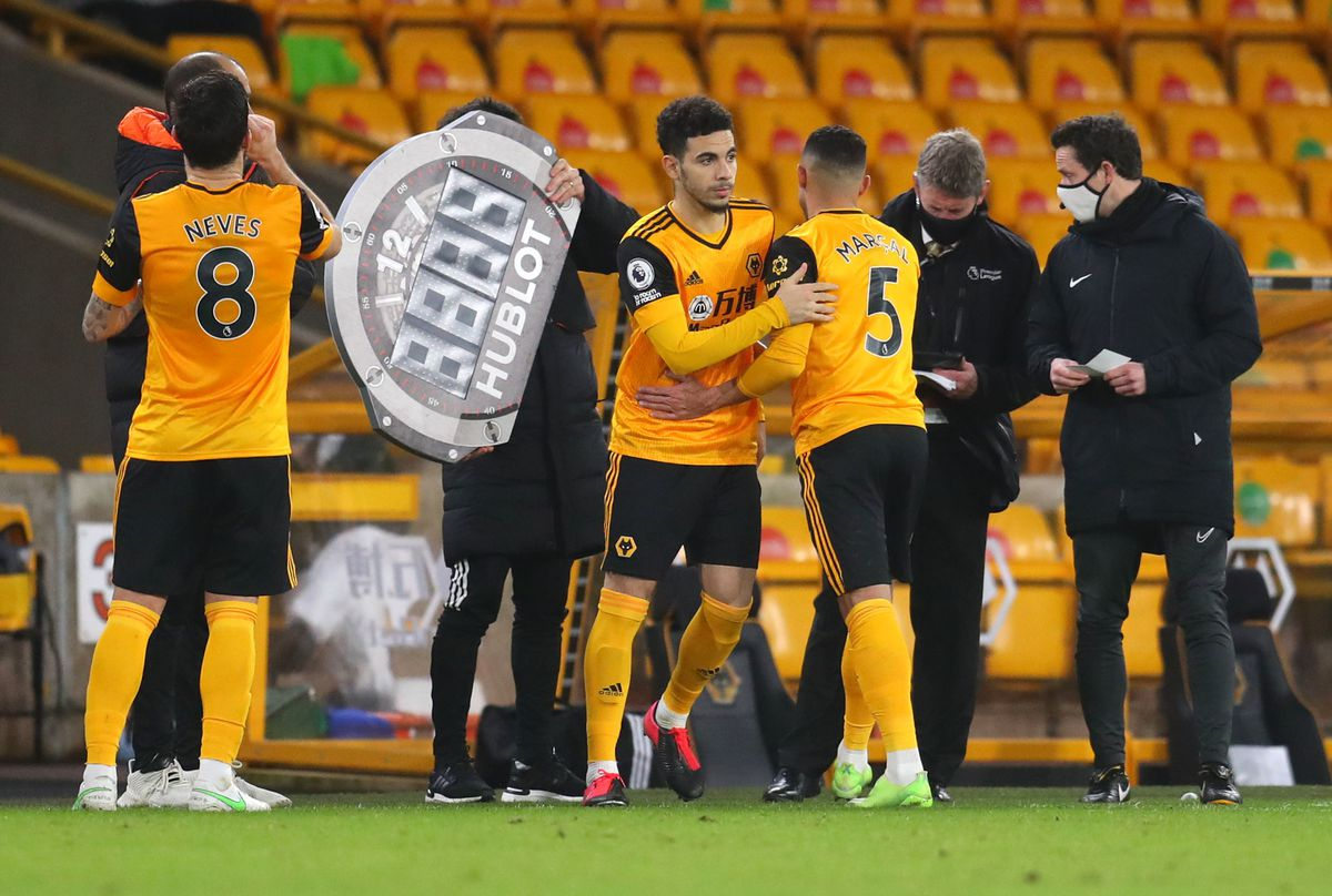 Wolverhampton Wanderers' Rayan Ait-Nouri comes on for Marcal (PA)