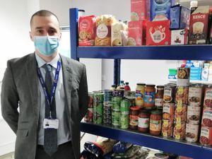 Education Welfare Officer Dan Santopietro at the LCT food hub