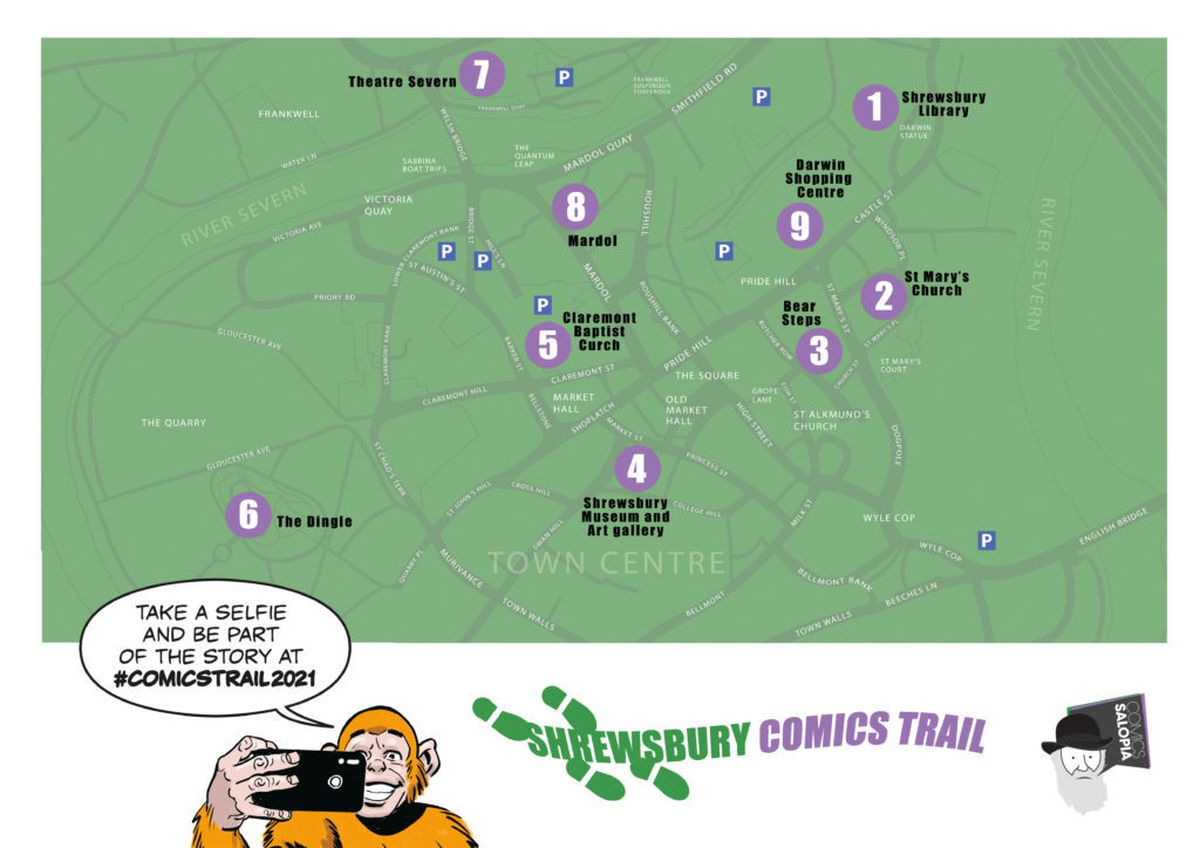The trail route