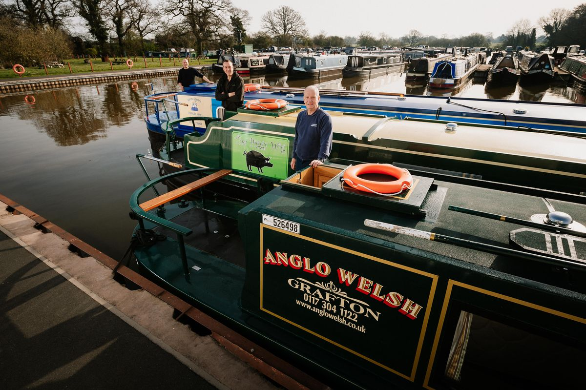 Bryan White, Mike Houghton and Andy Brickland are expecting a busy boating season when Whixall Marina near Whitchurch reopens on April 12