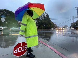 Heavy rain in California