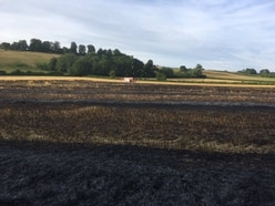 Field of barely goes up in flames in Shropshire