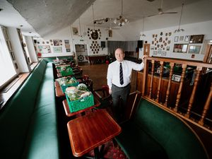 Chair Pete Bunting in the naval club