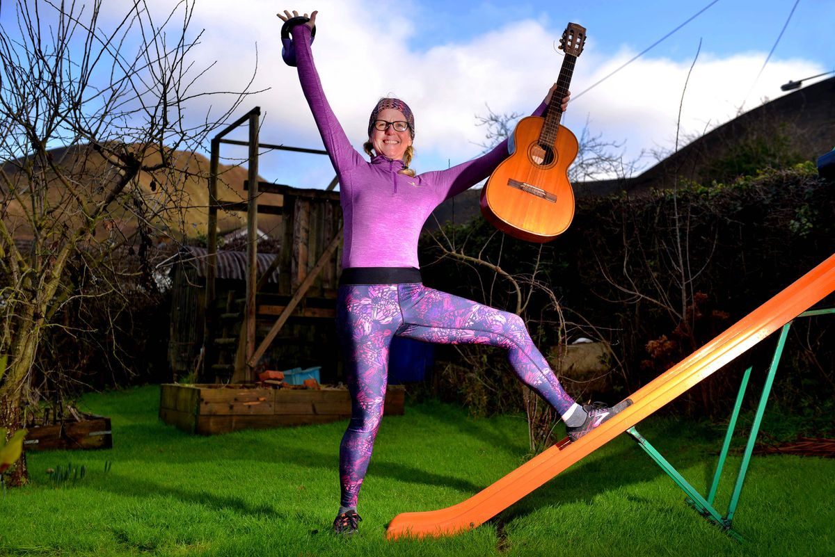 Artist, musician and fitness instructor Sally Tonge