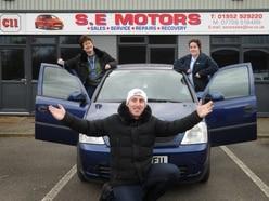 Telford dealership donates second-hand car to care company