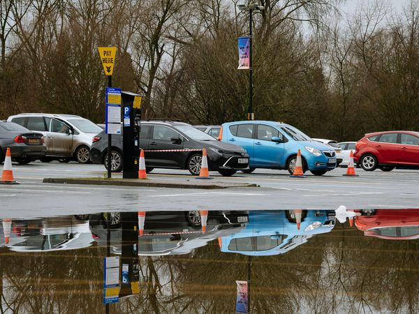 Flooding at Shrewsbury's Frankwell car park in December last year