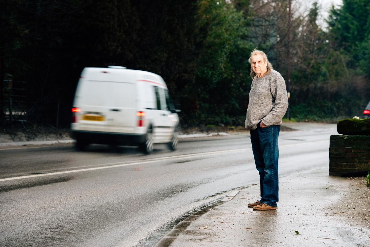 David Martin says vehicles hitting a pothole on the A41 leaves his house shaking