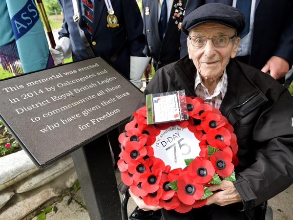 Proud veterans at Telford D-Day service