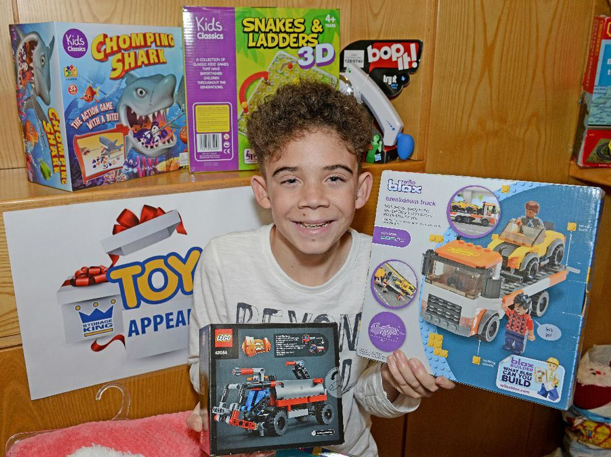 Harlie McGowan is backing our toy appeal
