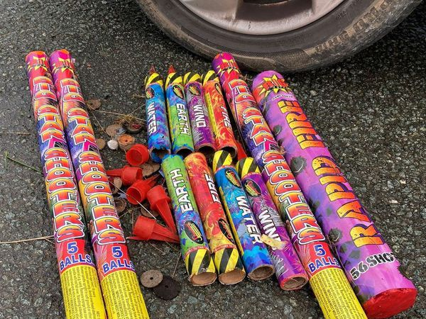 The remnants of the fireworks were disposed of after the incident