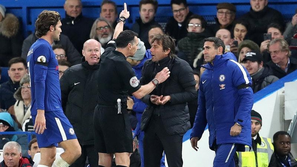 Antonio Conte fined after sending off in Chelsea win over Swansea
