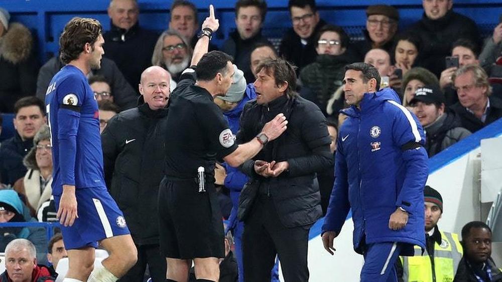 FA Fines Conte £8000 Over Ref Rant
