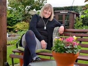 Councillor Ann Hartley in her garden