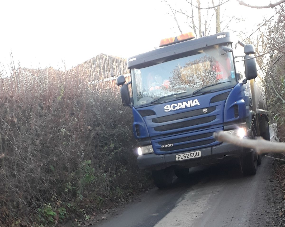 Councillor Andy Boddington photographed one of the lorries