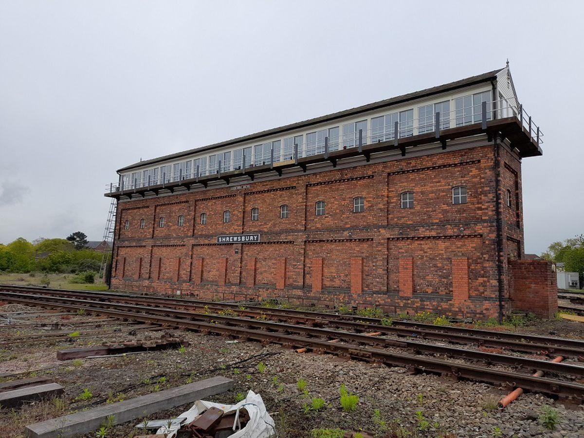 The Severn Bridge Junction signal box in Shrewsbury