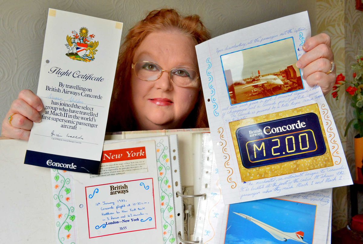 Sue Adams produced a journal recollecting her flight to New York in 1983