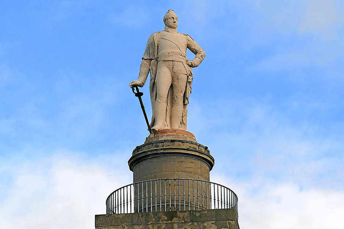 The statue of Lord Hill in Shrewsbury