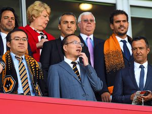 Jeff Shi of Fosun International Limited and Wolverhampton Wanderers, Guo Guangchang the chairman of Fosun International Limited owner of Wolverhampton Wanderers and Jorge Mendes Sports Agent