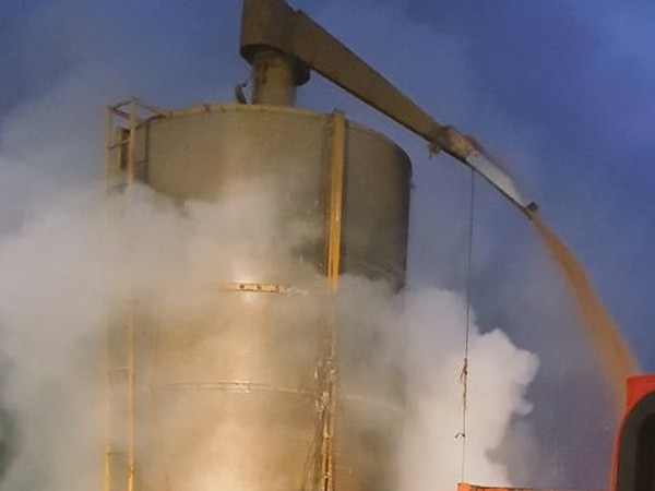 Wheat destroyed in silo fire