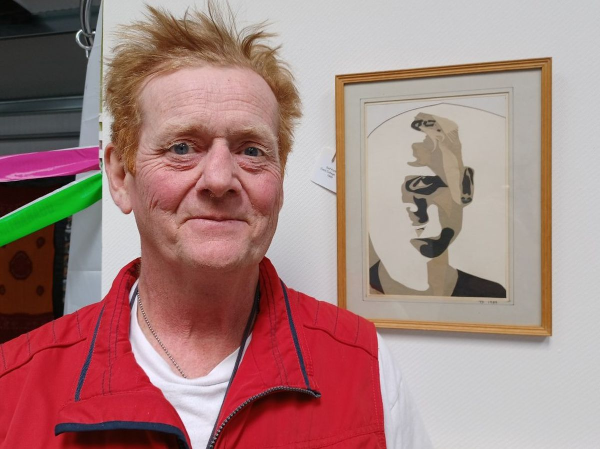 Tim Platt whose artwork, which was created in response to his cancer treatment, is featuring in an exhibition.